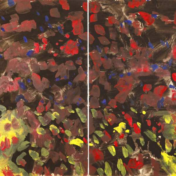 Untitled, 1968-69, mixed media on Kyro card, diptych
