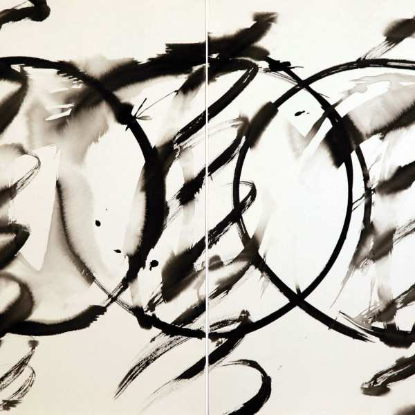 Untitled, 1980s, ink on Arches paper, diptych