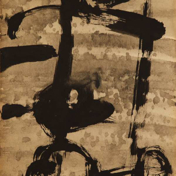 Untitled, 1966, ink on Kyro card