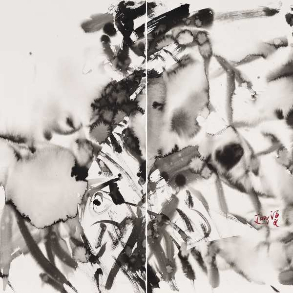 Untitled, 1980, ink on Arches paper, diptych