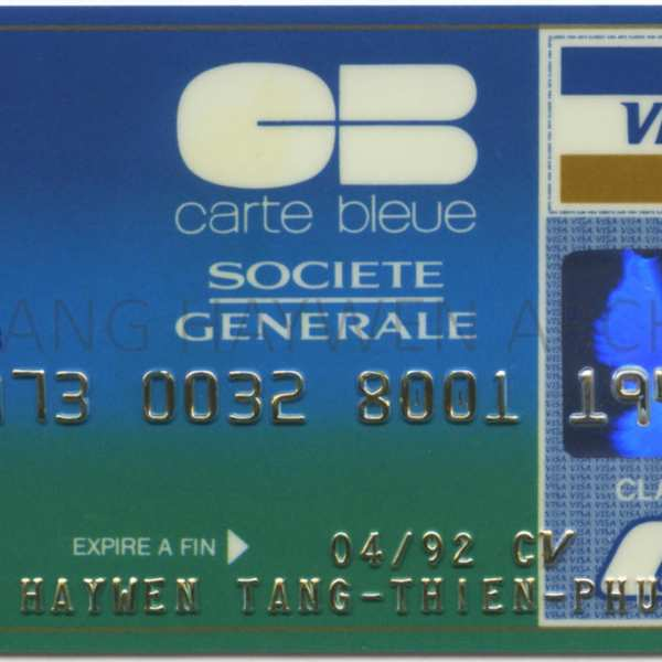 T'ang's Credit Card from Societe Generale