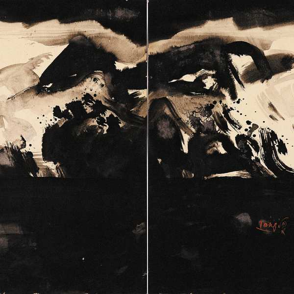 Large landscape, 1978, diptych, ink on card