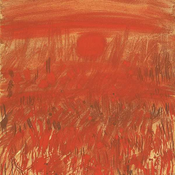 Red sun, 1967, gouache & watercolour on card