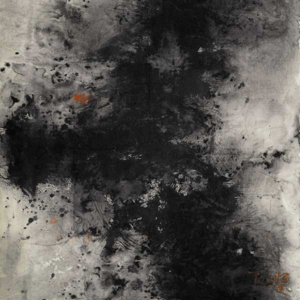 Untitled, 1964-66, ink & acrylic on cotton canvas, 209.5x175.8cm, signed