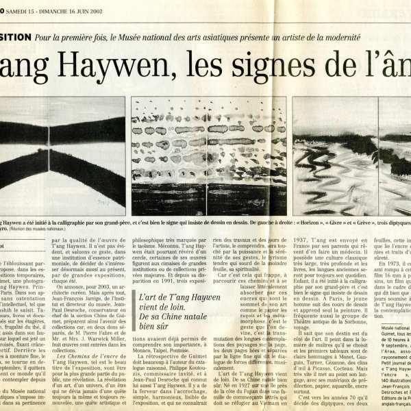 2002年6月法國《費加羅報》